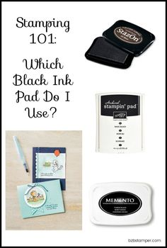 fabric stamping Stampin' Up! offers 3 different types of Black Ink Pads for your stamping pleasure. So which ink pad do you use when? I'm here to help! Card Making Tips, Card Making Tutorials, Card Making Techniques, Making Ideas, Card Tricks, Art Techniques, Rubber Stamp Storage, Rubber Stamping Techniques, Fabric Stamping
