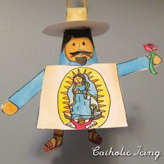 Saint juan diego and virgin of guadalupe coloring pages for Our lady of guadalupe arts and crafts