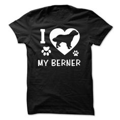I Love My Berner T Shirts, Hoodies. Check Price ==► https://www.sunfrog.com/Pets/I-Love-My-Berner.html?41382 $21.99