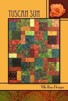 Great pattern for Caroline's quilt Tuscan Sun Quilt Pattern - Villa Rosa Designs