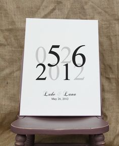 Personalized Canvas Art Wedding Anniversary Monogram Est Date