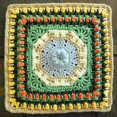 "Ravelry: Project Gallery for Fountain of Roses 12"" Square pattern by Shan Sevcik ~ free pattern"