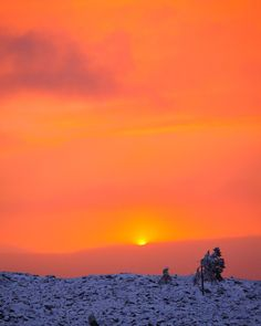 November in Finnish Lapland Levi. What a sunset!
