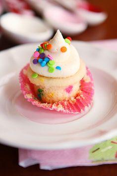 Mini Funfetti Cupcakes with Sprinkles