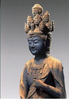 西国11番札所下醍醐寺の霊宝館 十一面観音立像