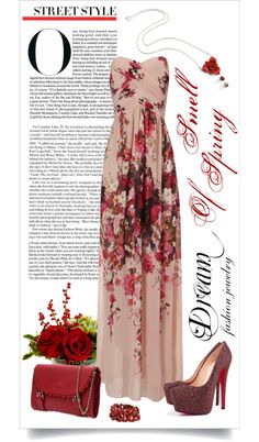 """""""Dream Fashion Jewelry Collection - Smell Of Spring - Dark Red"""" by dreamfashionjewelry on Polyvore"""