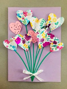 Mothers Day Crafts For Kids, Easy Crafts For Kids, Diy For Kids, Diy And Crafts, Paper Crafts, Art Crafts, Granny Gifts, Mothersday Cards, 32 Birthday