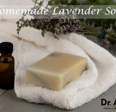 Homemade Lavender Soap Bar