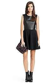 Jeannie Two Leather Fit And Flare Dress