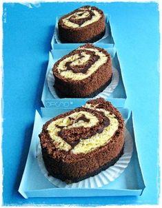 { Ricetta vintage }  Similgirelle al cioccolato -   { Vintage recipe }  Little chocolate cake roll