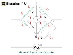 A SIMPLE explanation of a Maxwell Inductance Capacitance Bridge. We discuss what a Maxwell Bridge is, its Applications, and look at a Diagram. You'll also learn . Circuit Diagram, Electrical Engineering, Bridges, Cable, Audio, Self, Electronics, Learning, Cabo