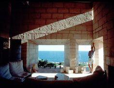 Can Lis - Jorn Utzon house on Mallorca Jorn Utzon, Pergola, Outdoor Structures, Canning, Studio, Building, Modern, Architecture Design, Students