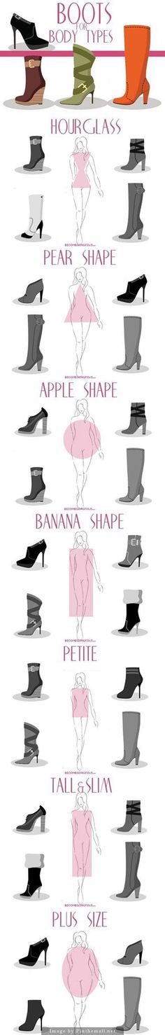 Choose the right shoes for your body type.   #shoes #boots #fashion…
