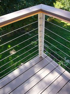 Deck Skirting Ideas - Deck skirting is a product attached to support post and also boards listed below a deck. Get some fantastic ideas for unique deck skirting therapies in this . Design Patio, Deck Railing Design, Balcony Railing, Deck Railings, Railing Ideas, Cable Railing, Patio Stairs, Decking Ideas, Outdoor Spaces