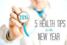 5 Health Tips for the New Year! #health #healthyliving #healthandwellness #water #sleep #healthtips #newyears #2014