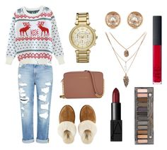 """""""Untitled #3"""" by fashionwithfriends ❤ liked on Polyvore featuring Genetic Denim, UGG Australia, Michael Kors, NARS Cosmetics and Urban Decay"""