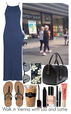 """""""Walk in Vienna with Lou and Lottie"""" by nuriapinto ❤ liked on Polyvore featuring Topshop, UGG Australia, MANGO, Sonix, Keurig, Yves Saint Laurent, Serge Lutens, Bobbi Brown Cosmetics, Chanel and Too Faced Cosmetics"""