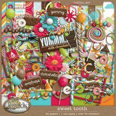 Sweet Tooth - Full Kit by K Studio, http://www.kstudiofix.com #digitalscrapbooking #digiscrap #scrapbooking #kstudio
