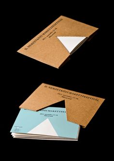 makett festival brochure/ 2011 by Dora Novotny, via Behance