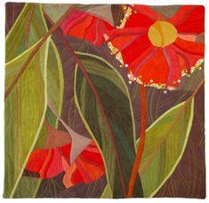 Textile Fiber Art, Fibre Art, Australia Landscape, Flower Quilts, Amazing Pics, Heart Art, Rug Hooking, Pattern Art, Flower Art