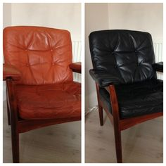 Leather Couch And Chair Toddler Table Chairs 13 Best Dye Furniture Images Just Dyed My With Love The Finished Product