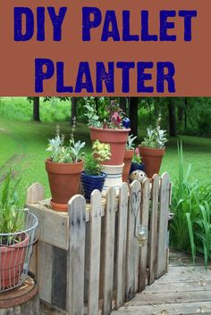 Use a pallet to create a planter