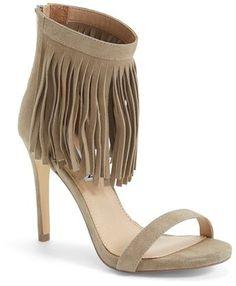 Steve Madden 'Staarz' Ankle Fringe Sandal (Women). Summer  Tan Fringe.