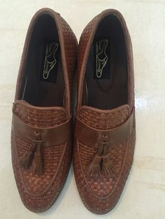 6f48aebf728 Tan brown check loafers with tessels. Urban Cobbler