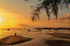 Digital Download, Sonnenaufgang, Sonnenuntergang, Insel, Koh-Samui, Tailand, Urlaub, Reisen, Fischer, Fischerboote von PhotoDreamWorldArt auf Etsy