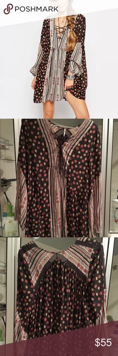 Free People Rain Or Shine Tunic Dress Worn and washed once. Oversized fit Free People Dresses