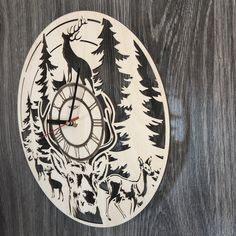 No home is complete without a beautiful clock. Stylish and versatile, this clock is the perfect living room or office centerpiece and a wonderful gift for any occasion. Laser-cut to perfection and equipped with premium mechanics, it will keep you on-time for years to come!  7ARTS' unique clocks are handmade out of nobl