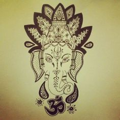 buddhist elephant god tattoo | amazing | via Tumblr | We Heart It