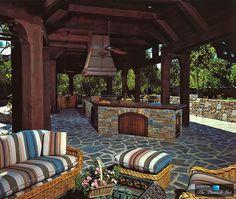 Outdoor Kitchen - Michael Jacksons Neverland Valley Ranch - 5225 Figueroa Mountain Road, Los Olivos, CA