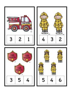 Preschool Printables: Fire Safety Number Cards