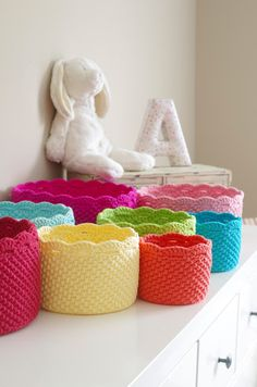 Scalloped Edge Crochet Storage: pattern for purchase