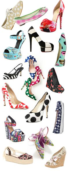 spring shoes, printed, striped, floral #shoes