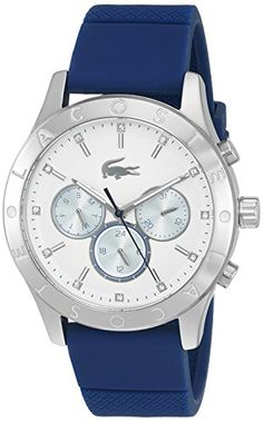 Lacoste Women's 'Charlotte' Quartz Stainless Steel and Silicone Casual Watch, Color:Blue (Model: 2000942) #deals