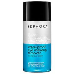 SEPHORA COLLECTION - Waterproof Eye Makeup Remover this is a great, affordable eye makeup remover if your looking for something to get off that stubborn waterproof mascara. just one thing: DON'T GET IT IN YOUR EYES. Best Makeup Remover, Eye Make-up Remover, Make Up Remover, Makeup Brushes, Makeup Tips, Beauty Makeup, Face Makeup, Dupes, Beauty Secrets