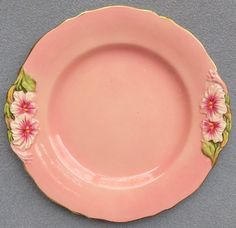 Royal Winton Pink Petunia Floral Lunch Plate