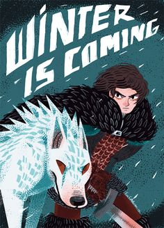 Winter is coming by evelmiina on deviantart - Jon Snow Ghost and Game of Thrones