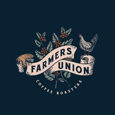 "Ceren Burcu Turkan on Instagram: ""One of the most enjoyable designs i have worked lately, logo design for Farmers Union Coffee Roasters. #farmersunioncoffee"""