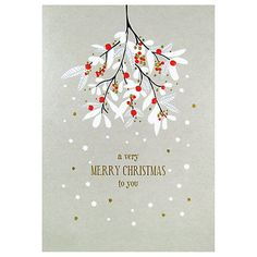 Buy Art File Mistletoe Christmas Card from our Greetings Cards range at John Lewis & Partners. Noel Christmas, Christmas Design, Handmade Christmas, Christmas Greeting Cards, Christmas Greetings, Christmas Cards Online, Christmas Graphics, Christmas Paintings, Christmas Artwork