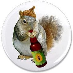 Squirrel Drinking Acorn Beer by Cat's Clips. http://www.cafepress.com/catsclips.833624145
