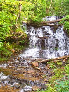 Michigan - I was just at this waterfall!