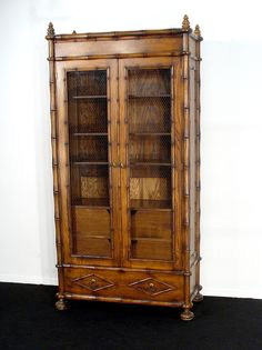Chinese Chippendale Faux Bamboo China Cabinet/Hutch on Etsy ...