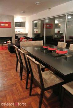 *Mesa Yoko 220x125m  *Sillas nº403 *Silla doble nº4003 Table, Furniture, Home Decor, Lacquer Furniture, Dining Room, Chairs, Mesas, Interiors, Home