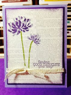 Stampin' in the Sun!: RETIRING LIST has been released... Too Kind and the Dictionary Background with a Tutorial