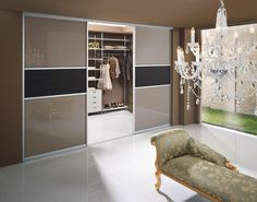 Walk in wardrobe Komandor - sliding door systems, furniture accesoires, office partition walls