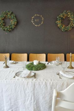 Noel ::simplistic christmas tablescape honoring our Savior