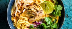 This Thai roast red duck curry is full of fresh flavours. It looks impressive on the table, but buying the curry paste ready-made makes this a really easy supper. Plus, it serves 4 for under £10.